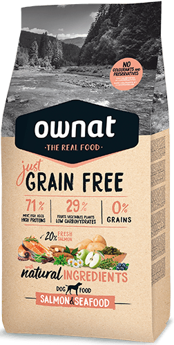 OWNAT GRAIN FREE JUST Adult Salmon&Seafood 3Kg DOG