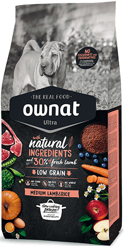 OWNAT ULTRA Medium Lamb&Rice Dog 8Kg